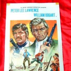 Cine: UNO A UNO SIN PIEDAD 1968 (CARTEL ESTRENO PRIMERA EDICION ITALIA) PETER LEE LAWRENCE EDUARDO FAJARDO. Lote 38234443