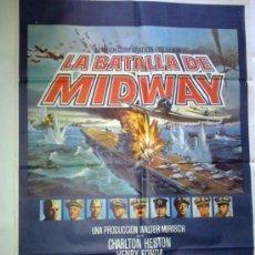 Cine: PÓSTER ORIGINAL LA BATALLA DE MIDWAY. Lote 38383511