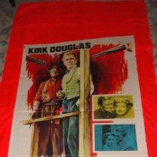 Cine: LA LEY DE LA FUERZA, POSTER ORIGINAL 70X100, KIRK DOUGLAS EVE MILLER, AÑO 1963. Lote 38397184