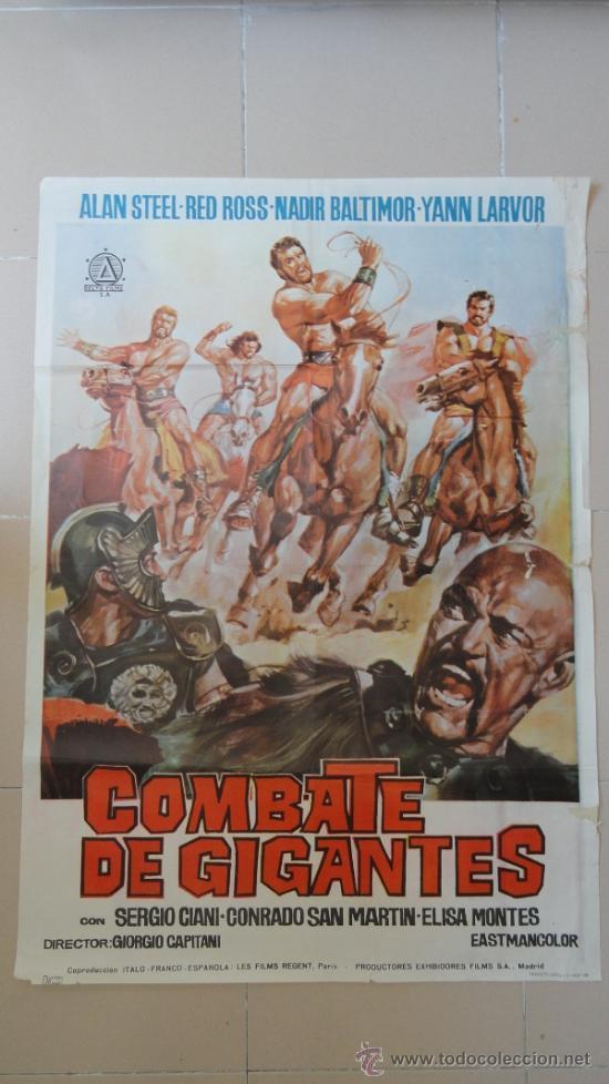 COMBATE DE GIGANTES, POSTER ORIGINAL 70X100, SERGIO CIANNI (Cine - Posters y Carteles - Acción)
