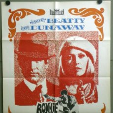 Cine: TM43 BONNIE Y CLYDE WARREN BEATTY FAYE DUNAWAY POSTER ORIGINAL 70X100 ESPAÑOL. Lote 95715591