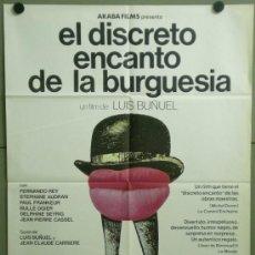 Cinema: VC70 EL DISCRETO ENCANTO DE LA BURGUESIA LUIS BUÑUEL POSTER ORIGINAL 70X100 ESPAÑOL. Lote 223307046