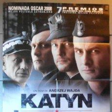 Cine: KATYN, CARTEL DE CINE ORIGINAL 70X100 APROX (10868). Lote 38502939