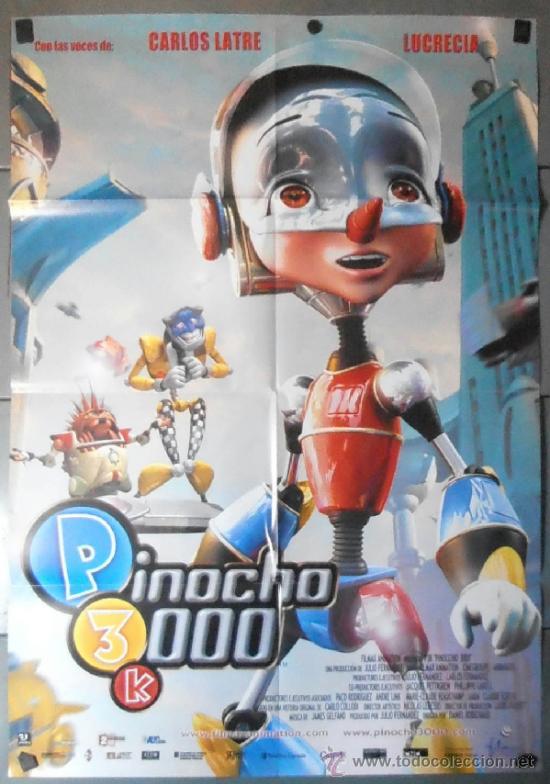 PINOCHO 3000, CARTEL DE CINE ORIGINAL 70X100 APROX (11038) (Cine - Posters y Carteles - Infantil)