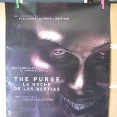 Cine: THE PURGE LA NOCHE DE LAS BESTIAS. Lote 195355730