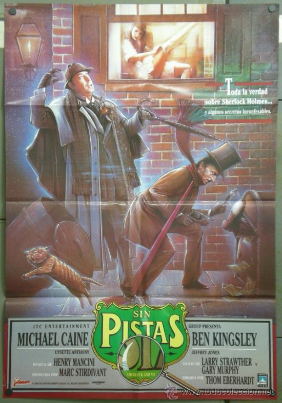 QE66 SHERLOCK HOLMES SIN PISTAS MICHAEL CAINE POSTER ORIGINAL 70X100 ESTRENO (Cine - Posters y Carteles - Suspense)