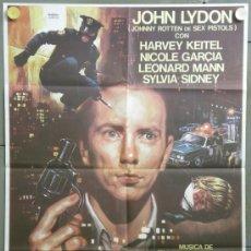 Cinema: QF00 COPKILLER HARVEY KEITEL JOHNNY ROTTEN SEX PISTOLS GIALLO POSTER ORIGINAL 70X100 ESTRENO. Lote 61083142