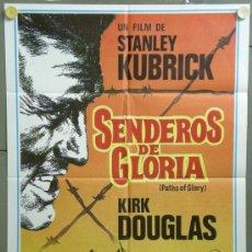 Cinema: QF13 SENDEROS DE GLORIA STANLEY KUBRICK KIRK DOUGLAS POSTER ORIGINAL 70X100 ESTRENO. Lote 199975463