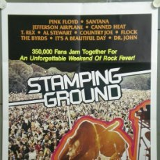 Cine: QF20 STAMPING GROUND JEFFERSON AIRPLANE THE BYRDS PINK FLOYD POSTER ORIGINAL INGLES 64X97. Lote 39897829