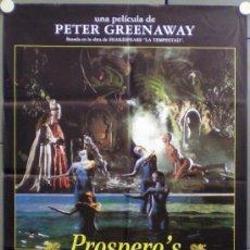 Cine: QF54 LOS LIBROS DE PROSPERO / PROSPERO'S BOOKS PETER GREENAWAY POSTER ORIGINAL 70X100 ESTRENO. Lote 39280845