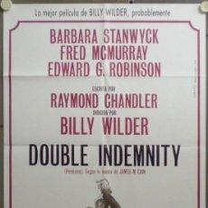 Cine: QF69 PERDICION DOUBLE INDEMNITY BILLY WILDER FRED MACMURRAY POSTER ORIGINAL 70X100 ESPAÑOL. Lote 296717483