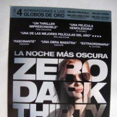 Cine: LA NOCHE MAS OSCURA. Lote 217853108