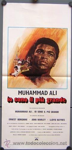 QF26 YO EL MEJOR THE GREATEST MUHAMAD ALI CASSIUS CLAY BOXEO POSTER ORIGINAL 33X70 ITALIANO (Cine - Posters y Carteles - Deportes)