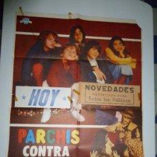 Cine: CARTEL PARCHÍS CONTRA EL HOMBRE INVISIBLE (1981 ARGENTINA ). Lote 39093740