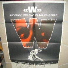 Cine: W SUSPENSE MAS ALLA DE LAS PALABRAS RICHARD QUINE POSTER ORIGINAL 70X100 YY(326). Lote 39109023