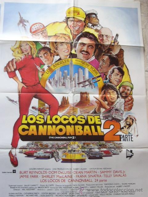 CARTEL DE CINE- MOVIE POSTER LOS LOCOS DE CANNONBALL 2. 70X100 CM. (Cine - Posters y Carteles - Comedia)