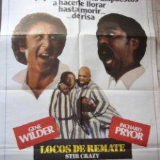Cine: CARTEL DE CINE- MOVIE POSTER. LOCOS DE REMATE. 70X100 CM.. Lote 39155424
