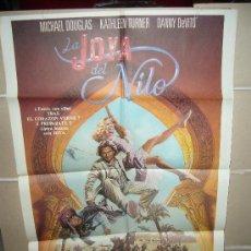 Cine: LA JOYA DEL NILO MICHAEL DOUGLAS KATHLEEN TURNER POSTER ORIGINAL 70X100 (24). Lote 39160734