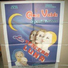 Cine: LA TERCERA LUNA ANA VALDI GREGORIO ALMENDROS POSTER ORIGINAL 70X100 (37). Lote 39170512