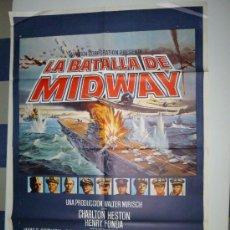 Cine: CARTEL LA BATALLA DE MIDWAY. Lote 39189169