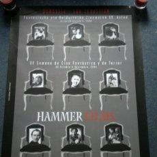 Cine: POSTER • HAMMER FILMS (ORIGINAL - 70X100). Lote 39201817