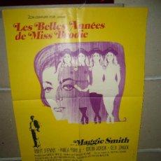 Cine: LOS MEJORES AÑOS DE MISS BRODIE MAGGIE SMITH GUERRA CIVIL POSTER ORIGINAL FRANCES 60X40 (180). Lote 39267648