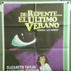Cine: QF36 DE REPENTE EL ULTIMO VERANO ELIZABETH TAYLOR HEPBURN CLIFT POSTER ORIGINAL 70X100 ESTRENO. Lote 39279585