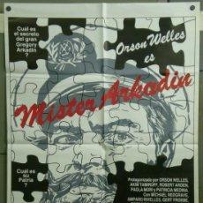 Cine: QF41D MISTER ARKADIN ORSON WELLES AMPARO RIVELLES POSTER ORIGINAL ESPAÑOL 70X100. Lote 39279838