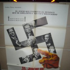Cine: EL JUICIO DE NUREMBERG SPENCER TRACY BURT LANCASTER POSTER ORIGINAL 70X100 (214) JANO. Lote 39302928