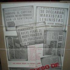 Cine: EL PROCESO DE BURGOS IMANOL URIBE POSTER ORIGINAL 70X100 Q. Lote 39309152