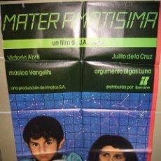 Cine: MATER AMATISIMA VICTORIA ABRIL POSTER ORIGINAL 70X100 (220). Lote 39309213