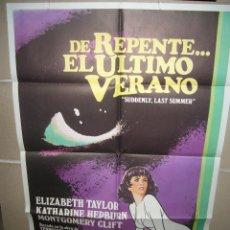 Cine: DE REPENTE EL ULTIMO VERANO ELIZABETH TAYLOR CLIFT HEPBURN POSTER ORIGINAL 70X100 (260). Lote 39337027