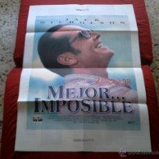Cine: POSTER CARTELMANIA Nº 5 MEJOR IMPOSIBLE (84X58) CON ESTUDIO POR DETRAS Y FILMOGRAFIA. Lote 39353210