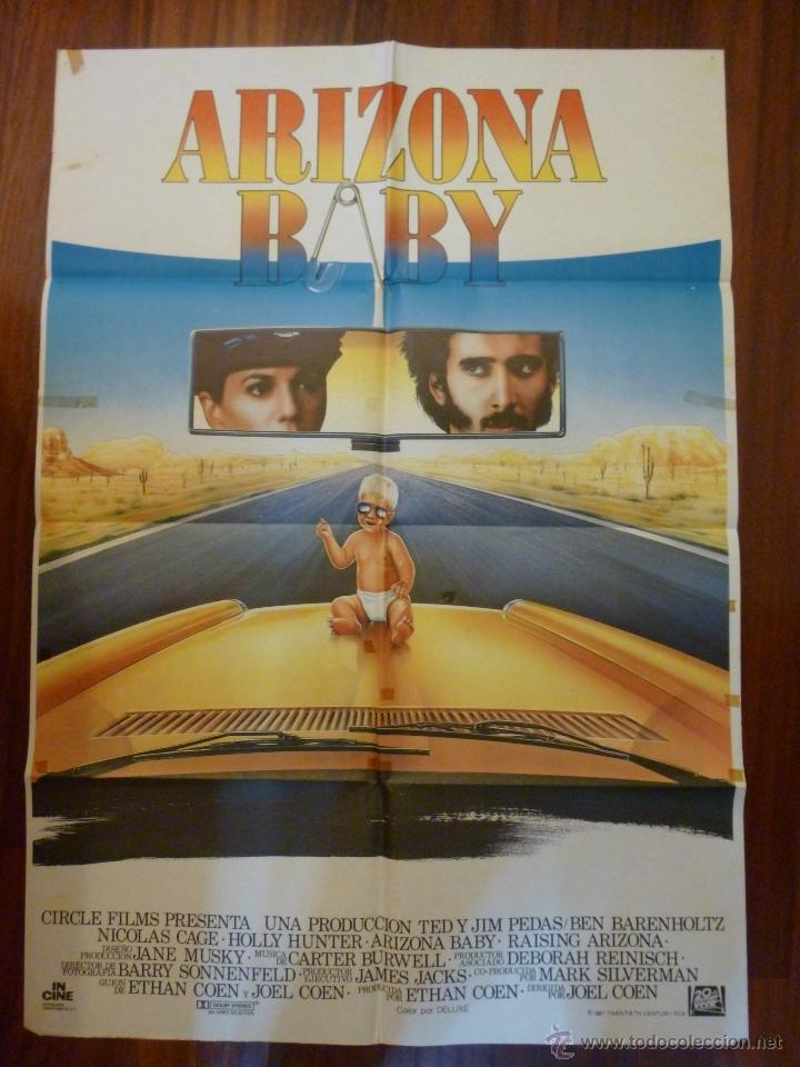 CARTEL ARIZONA BABY ; JOEL Y ETHAN COEN , NICOLAS CAGE , HOLLY HUNTER (Cine - Posters y Carteles - Comedia)