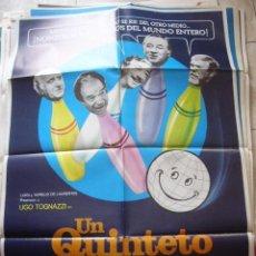 Cine: CARTEL DE CINE- MOVIE POSTER. UN QUINTETO A LO LOCO. Lote 39405057