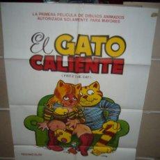 Cine: EL GATO CALIENTE RALPH BAKSHI ANIMACION POSTER ORIGINAL 70X100 (324) . Lote 39432056