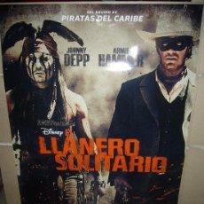 Cine: EL LLANERO SOLITARIO DISNEY JOHNNY DEPP ARMIE HAMMER POSTER ORIGINAL 70X100. Lote 57538920