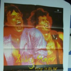 Cine: CARTEL THE ROLLING STONES TIME IS ON OUR SIDE. ESTRENO 1982. Lote 39437167