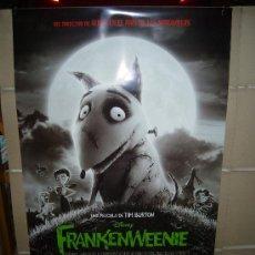 Cine: FRANKENWEENIE TIM BURTON DISNEY POSTER ORIGINAL 70X100. Lote 224275482