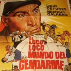 Cine: CARTEL DE CINE- MOVIE POSTER. EL LOCO, LOCO MUNDO DEL GENDARME. Lote 39470119
