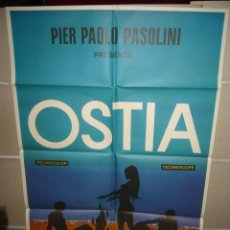 Cine: OSTIA PIER PAOLO PASOLINI POSTER ORIGINAL 70X100 (345) JANO. Lote 39445249