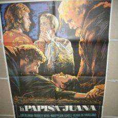 Cine: LA PAPISA JUANA LIV ULLMAN OLIVIA DE HAVILLAND FRANCO NERO POSTER ORIGINAL 70X100 (350). Lote 39458827