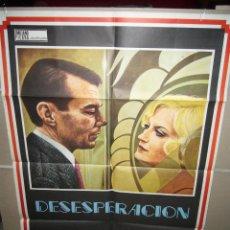 Cine: DESESPERACION FASSBINDER DIRK BOGARDE POSTER ORIGINAL 70X100 (359). Lote 39475919