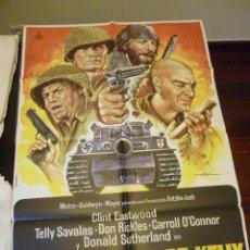 Cine: CARTEL LOS VIOLENTOS DE KELLY CLINT EASTWOOD , TELLY SAVALAS, DONALD SUTHERLAND. AÑO 1981. Lote 39494802