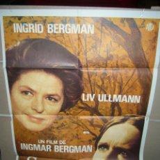 Cinema: SONATA DE OTOÑO INGRID INGMAR BERGMAN LIV ULLMAN POSTER ORIGINAL 70X100 (364). Lote 39500865