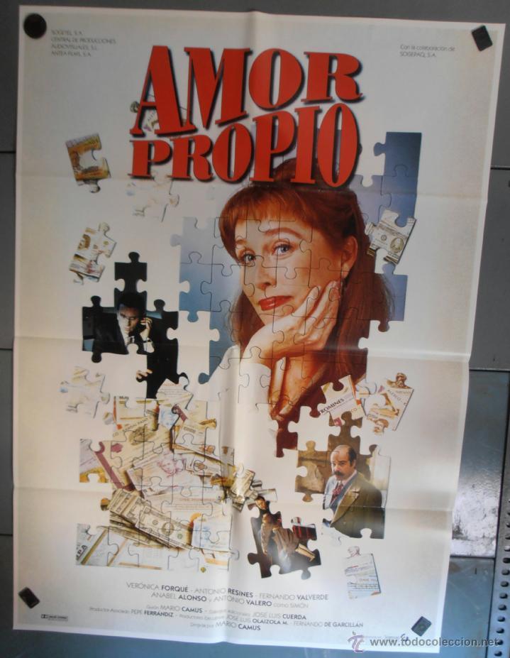 AMOR PROPIO,VERONICA FORTE, ANTONIO RESINES CARTEL DE CINE ORIGINAL 70X100 APROX (1250) (Cine - Posters y Carteles - Clasico Español)