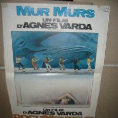 Cinema: MUR MURS AGNES VARDA POSTER ORIGINAL 50X40(402). Lote 39641332