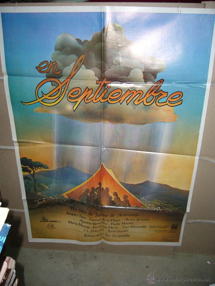 EN SEPTIEMBRE POSTER ORIGINAL 70X100 YY(4) (Cine - Posters y Carteles - Clasico Español)