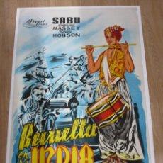 Cine: CARTEL ORIGINAL DE LA PELICULA DE CINE REVUELTA EN LA INDIA DE ZOLTAN KORDA 70 X 105 CM. Lote 39881563