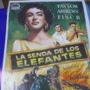 Cine: CARTEL REPLICA DE PELICULA DE CINE LA SENDA DE LOS ELEFANTES. ELISABETH TAYLOR. 86 X 61 CM. Lote 39886281